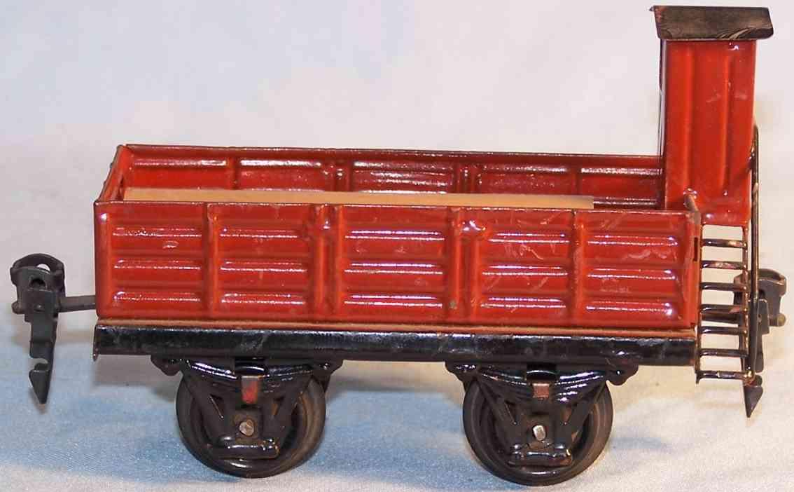 marklin 1917/0 railway toy gondola in reddish brown gauge 0