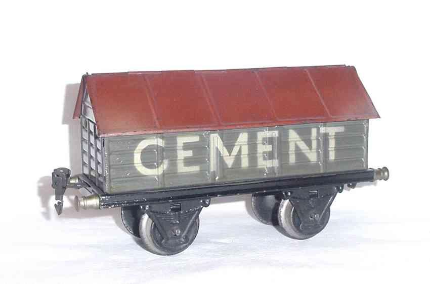 maerklin 1919/1 spielzeug eisenbahn zementwagen spur 1
