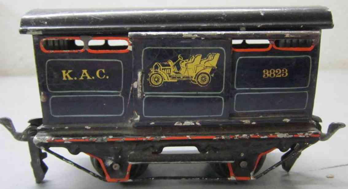 maerklin 1923/0 3823 englischer autotransportwagen blau spur 0