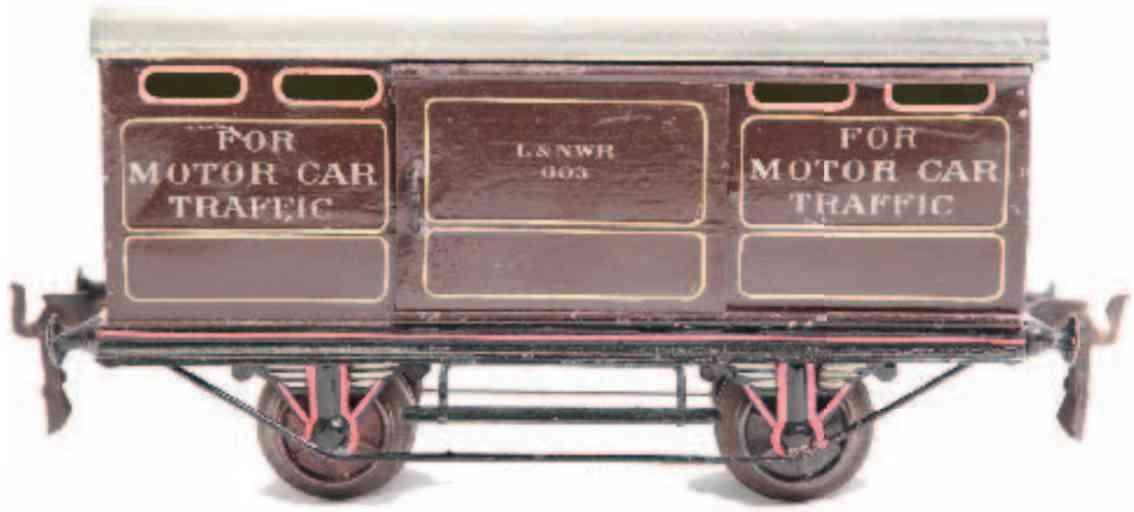 maerklin 1923/1 3823 englischer autotransportwagen braun spur 1