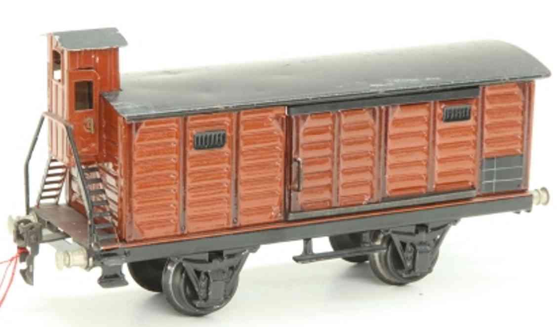 maerklin 1929/1 spielzeug eisenbahn gedeckter gueterwagen spur 1