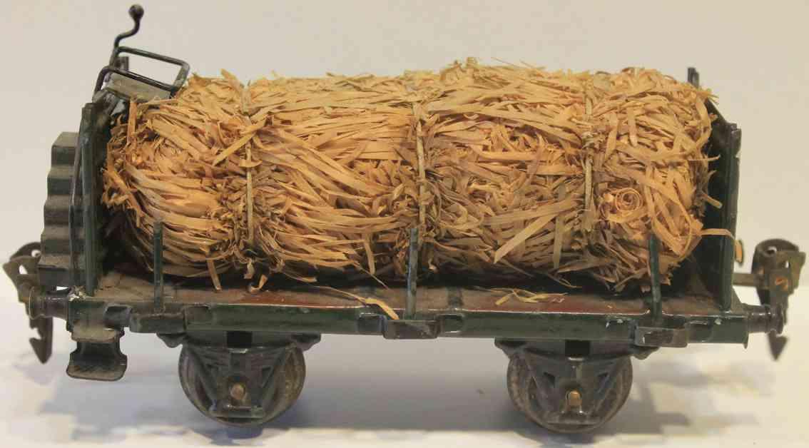 maerklin 1937/0 h spielzeug eisenbahn holzwollewagen in dunkelgruen spur 0