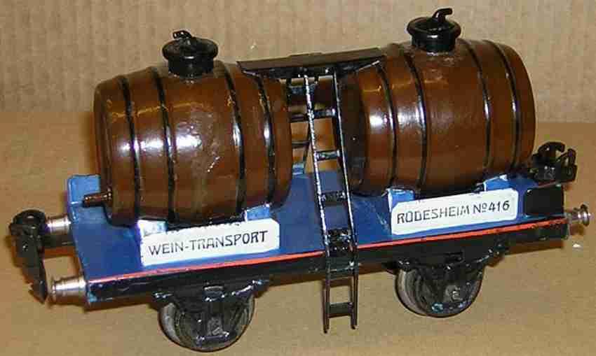 maerklin 1940/0 spielzeug eisenbahn weinwagen wein-transport ruedesheim 416 spur 0