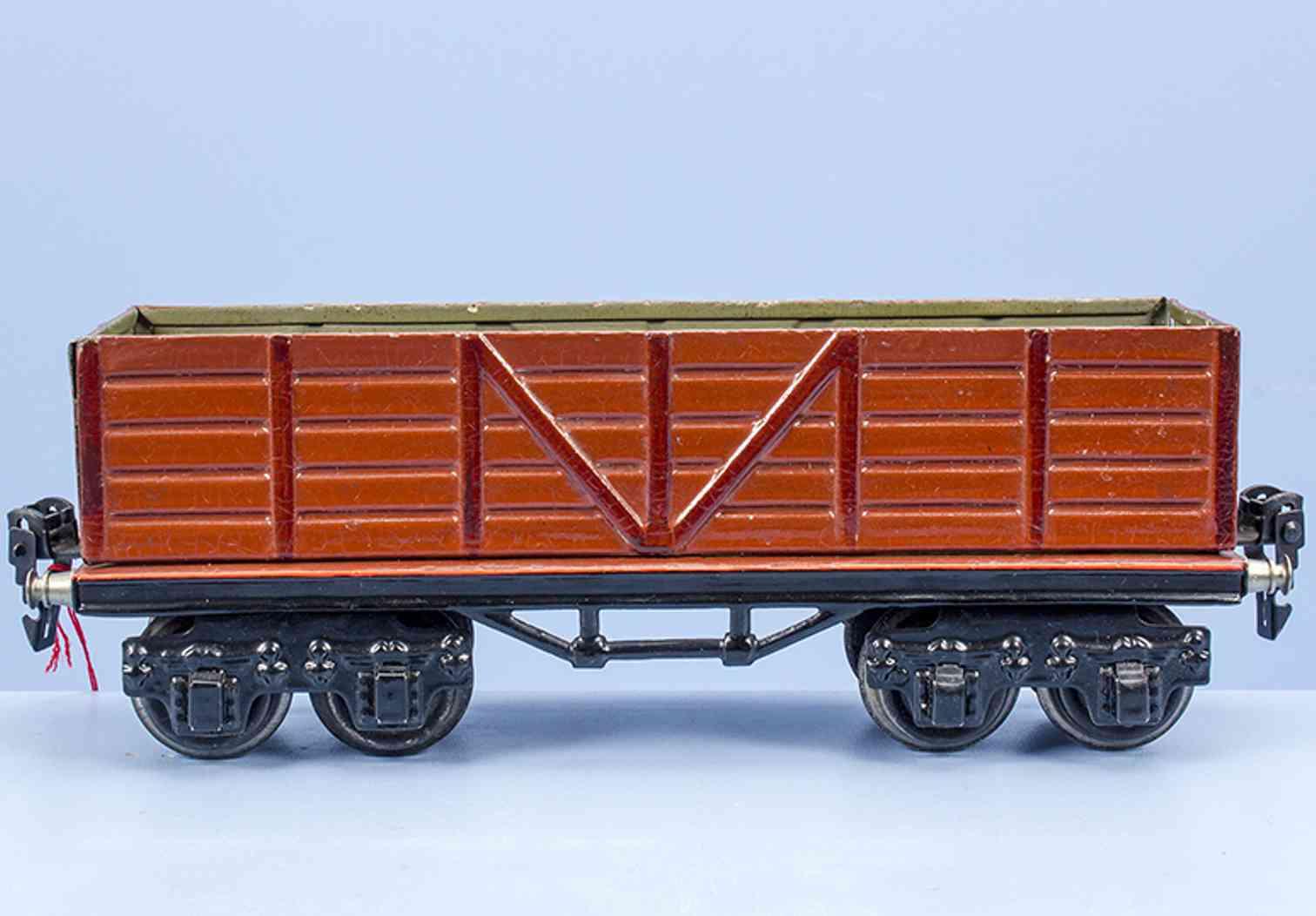 maerklin 1949/0 spielzeug eisenbahn hochbordwagen rotbraun spur 0