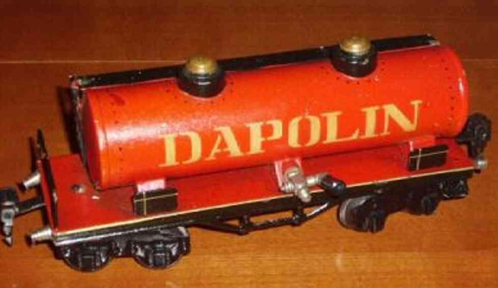 maerklin 1954/0 spielzeug eisenbahn kesselwagen dapolin in rot spur 0