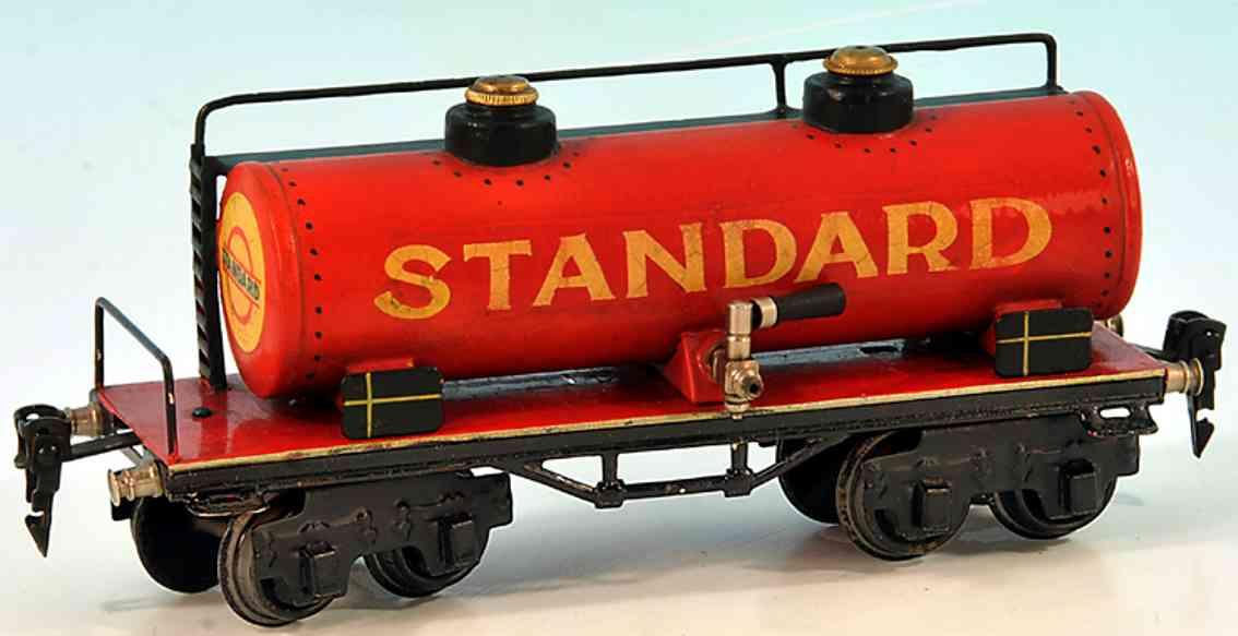 maerklin 1954/0 spielzeug eisenbahn kesselwagen rot standard spur 0
