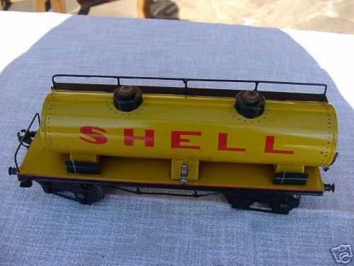 maerklin 1954/1 spielzeug eisenbahn kesselwagen gelb shell spur 1