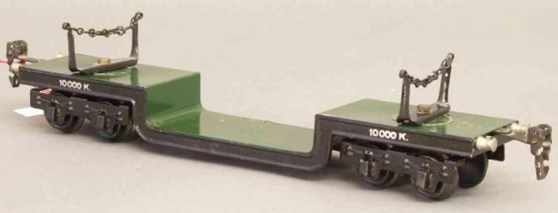 maerklin 1955/0 spielzeug eisenbahn tiefladewagen spur 0