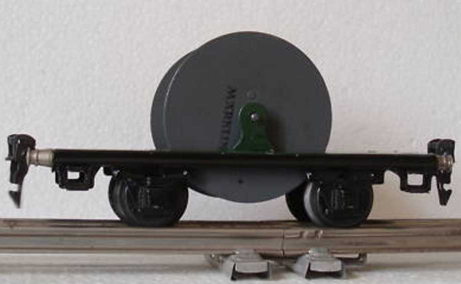 maerklin 1957/0 spielzeug eisenbahn kabelwagen spur 0