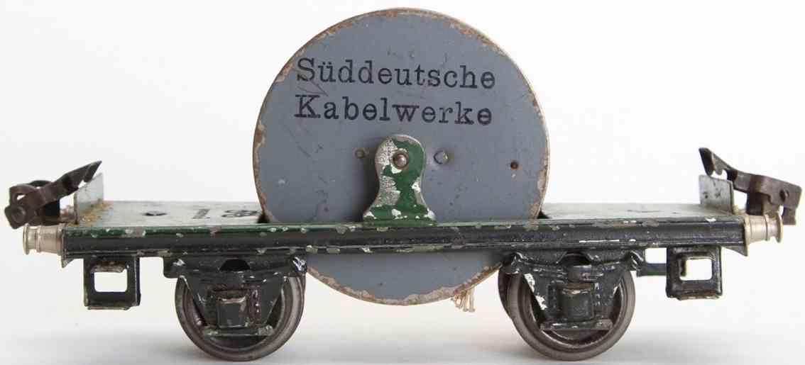 marklin 1957/0 spielzeug eisenbahn guterwagen kabelwagen spur 0