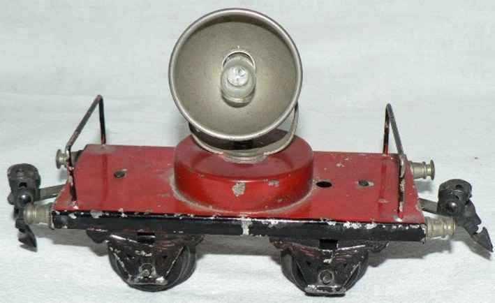 maerklin 1964/0 spielzeug eisenbahn scheinwerferwagen in rot spur 0