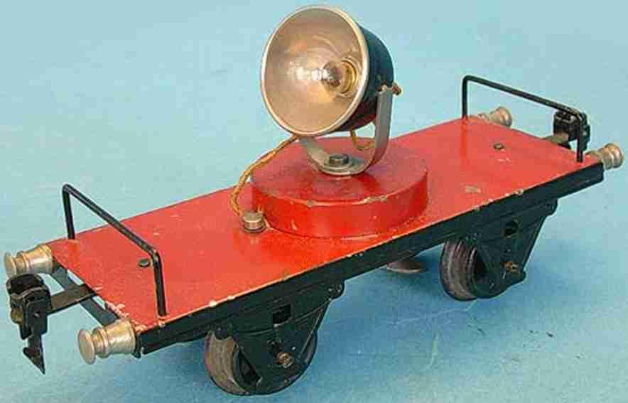 maerklin 1964/1 spielzeug eisenbahn gueterwagen scheinwerferwagen rot spur 1