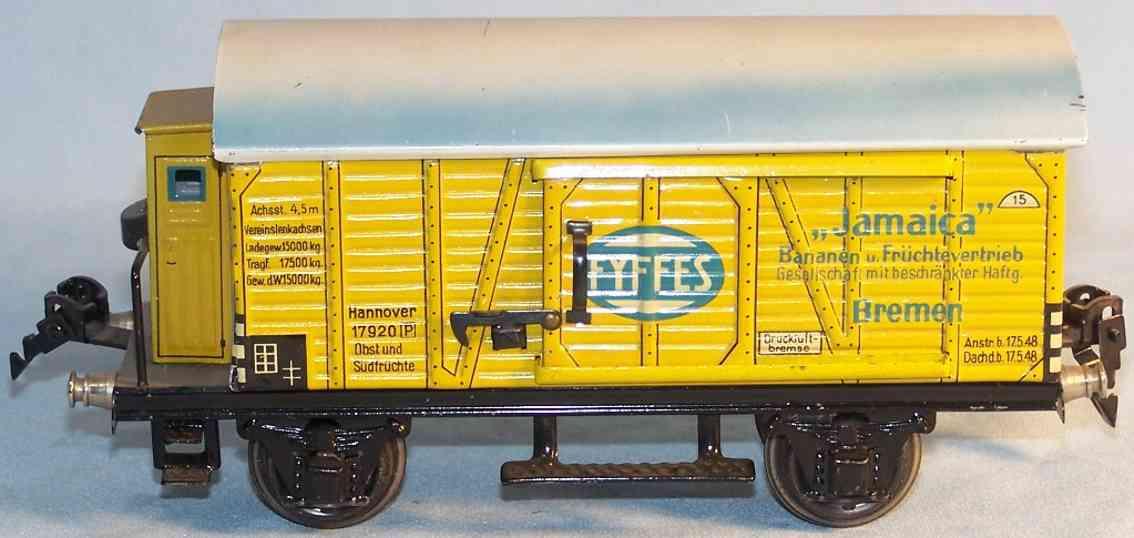 maerklin 1792/0 spielzeug eisenbahn gueterwagen bananenwagen spur 0