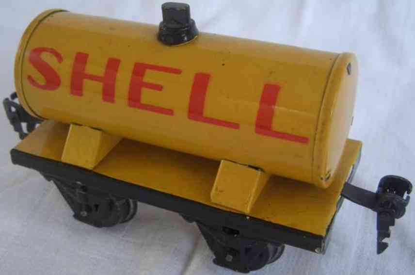 maerklin 1973/0 spielzeug eisenbahn kesselwagen gelb shell spur 0