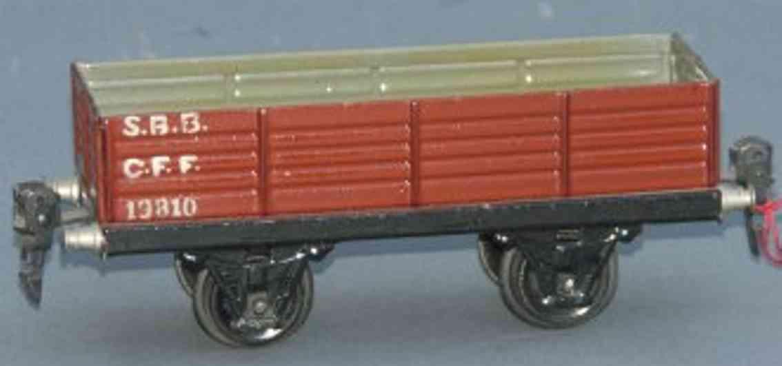 maerklin 1981/0 spielzeug eisenbahn offener gueterwagen sbb cff spur 0