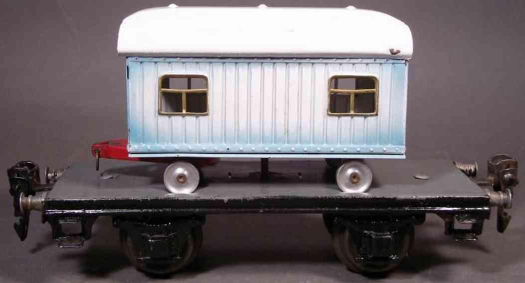 maerklin 1983/0 c spielzeug eisenbahn plattformwagen mit zurkuswagen spur 0