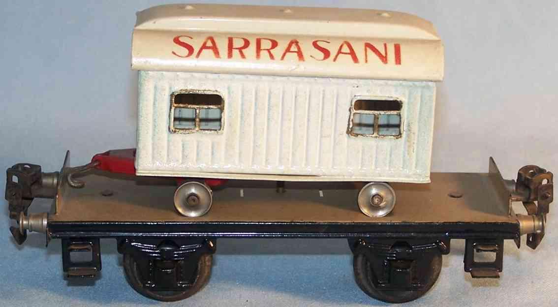 maerklin 1983/0 c spielzeug eisenbahn plattformwagen zirkuswagen sarrasani spur 0