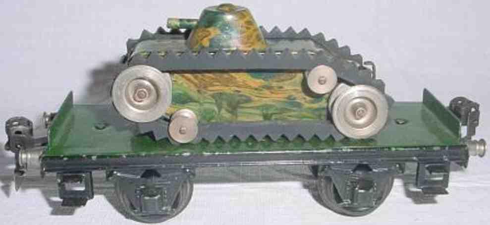 maerklin 1984/0 spielzeug eisenbahn panzerwagen gruen spur 0