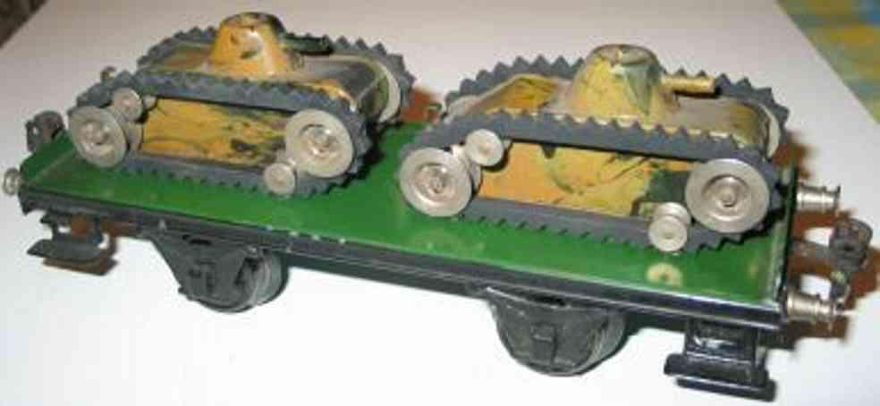 maerklin 1984/1 m spielzeug eisenbahn plattformwagen zwei panzer spur 1