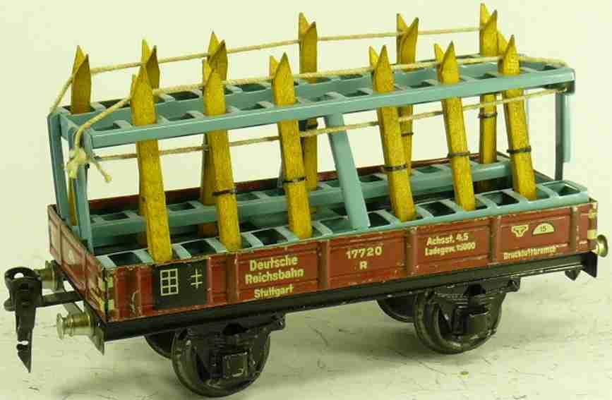 maerklin 1985/0 spielzeug eisenbahn skiwagen niederbordwagen 1764/0 spur 0