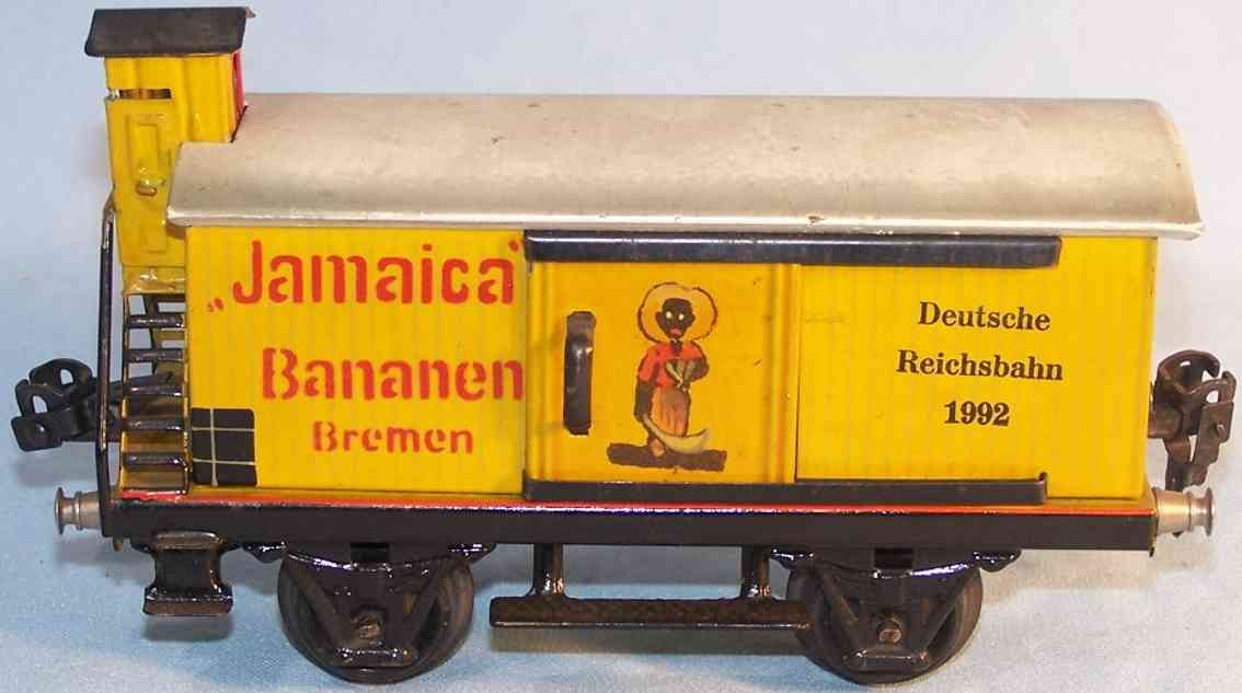 marklin 1992/0 spielzeug eisenbahn gueterwagen bananenwagen spur 0