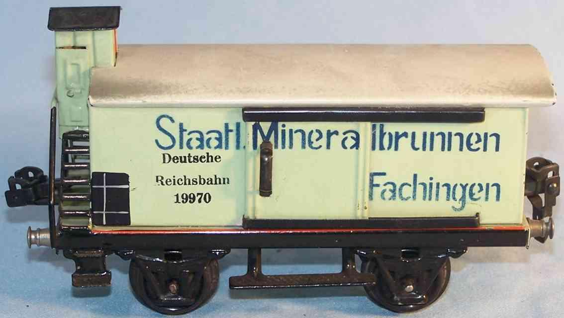 marklin 1997/0 spielzeug eisenbahn mineralwasserwagen bremserhaus spur 0