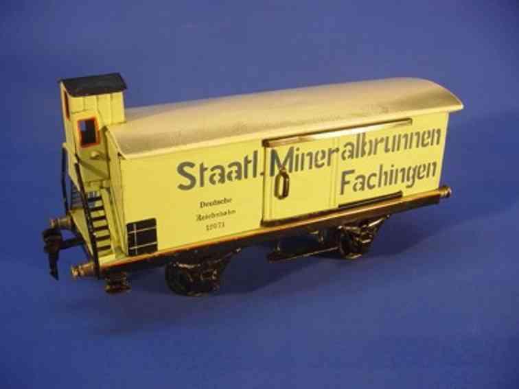 maerklin 1997/1 spielzeug eisenbahn mineralwasserwagen spur 1