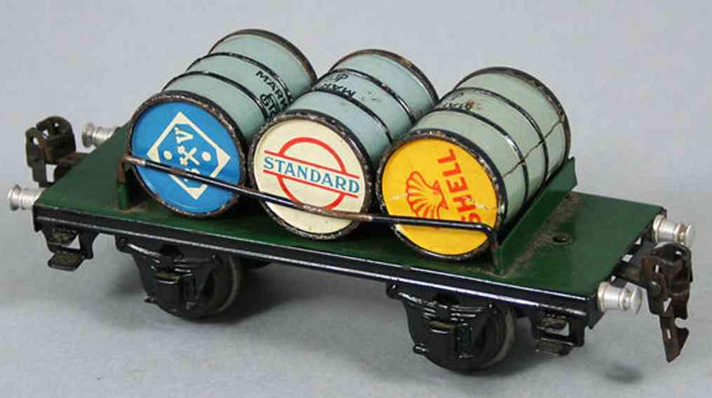 maerklin 1999/0 spielzeug eisenbahn plattformwagen benzinfaesser spur 0
