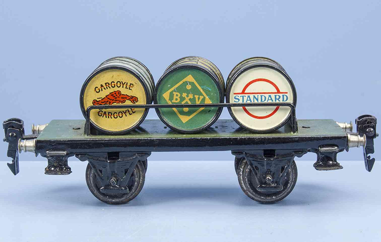 marklin maerklin 1999/0 (1932) railway toy barrel car 3 barrels gauge 0