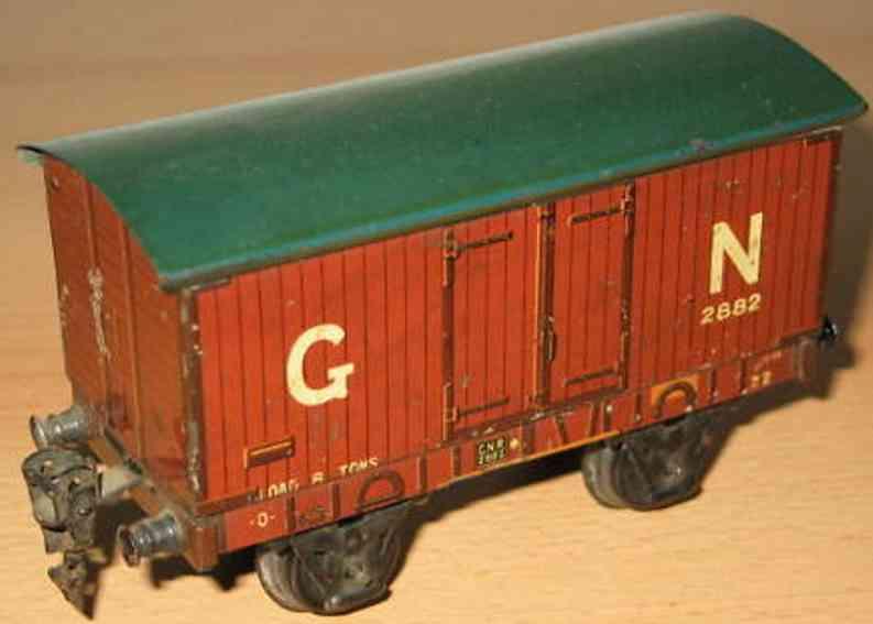 maerklin 2882/0 spielzeug eisenbahn englischer gedeckter gueterwagen spur 0