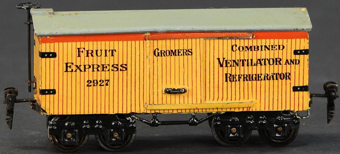 marklin 2927/0 spielzeug eisenbahn fruechtewagen spur 0