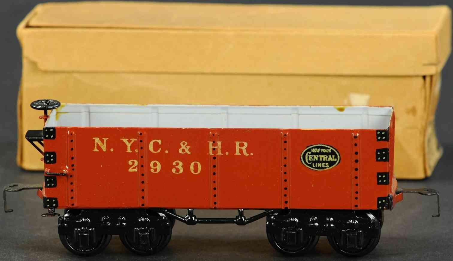 marklin 2930/0 railway toy american high-sided car brown gauge 0
