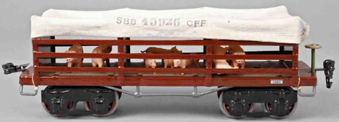 maerklin 2932/1  sbb 45926 cff spielzeug eisenbahn viehtransportwagen spur 1