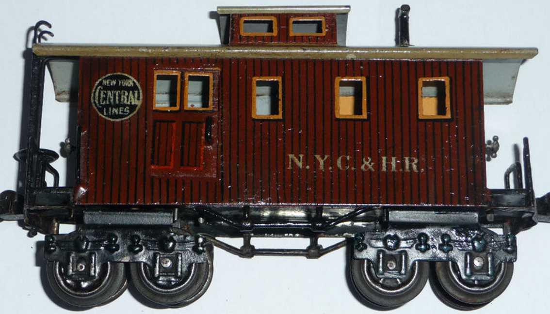 maerklin 2934/0 nyc&hr spielzeug eisenbahn caboose braun spur 0