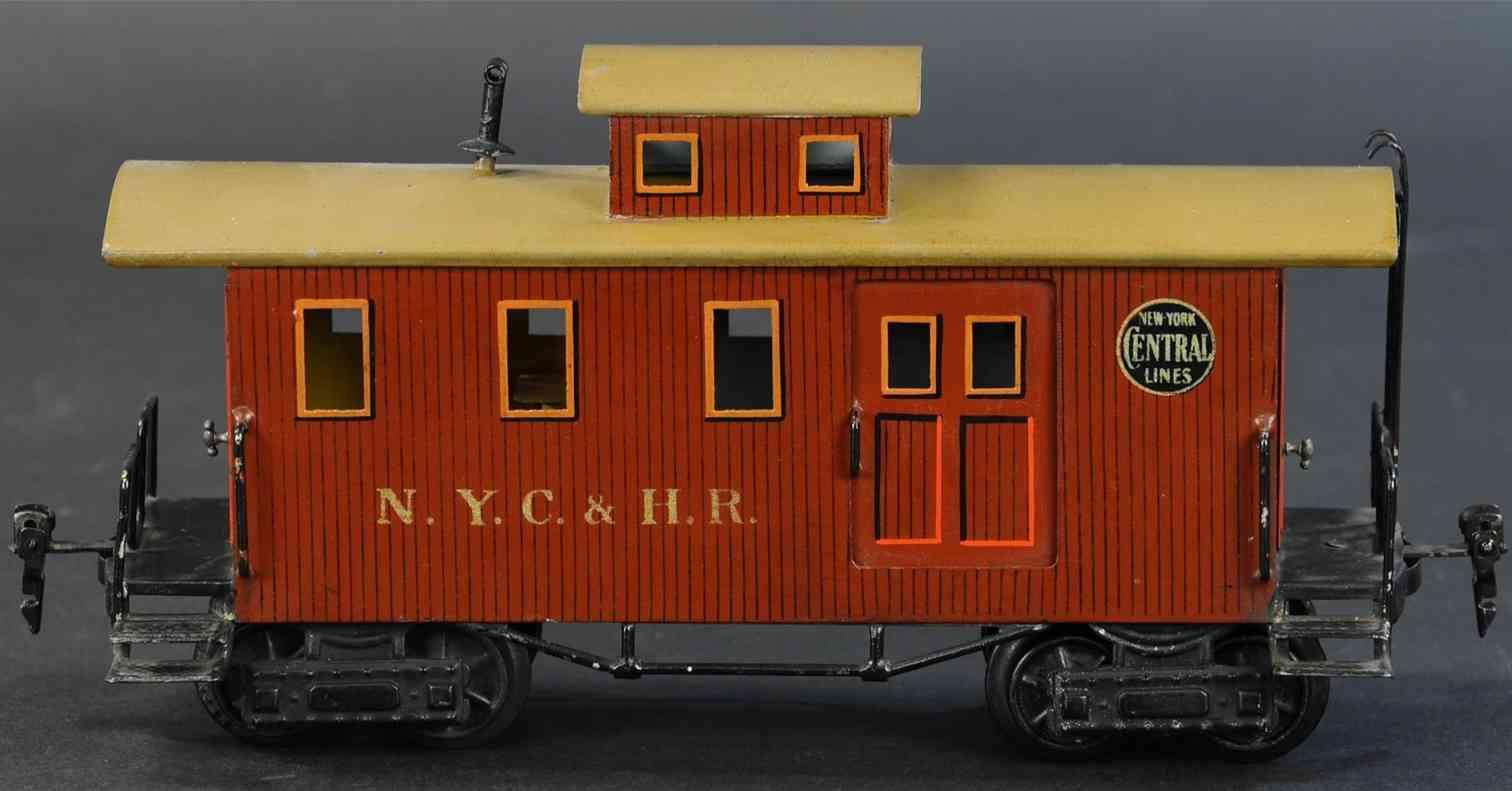 marklin 2934/1 railway toy box car american caboose bown roof yellow nyc hr gauge I