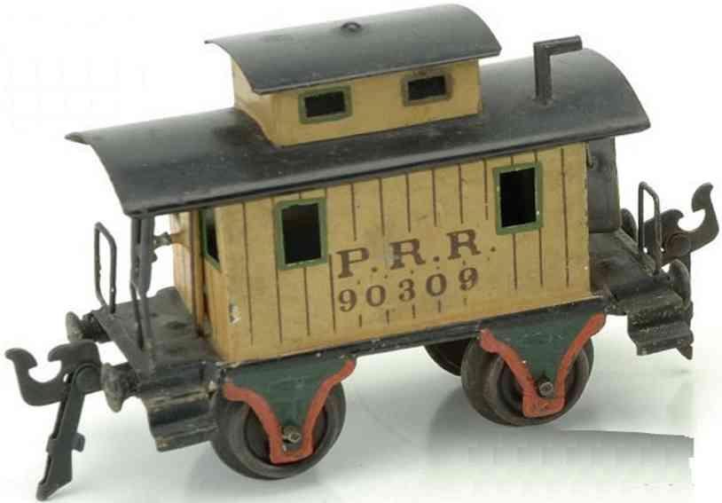 maerklin 2955/0 spielzeug eisenbahn caboose gelb spur 0