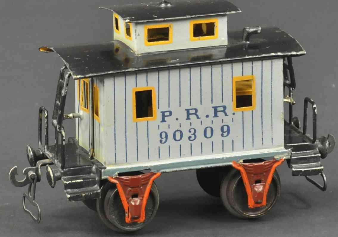 maerklin 2955/0 spielzeug eisenbahn caboose blau spur 0