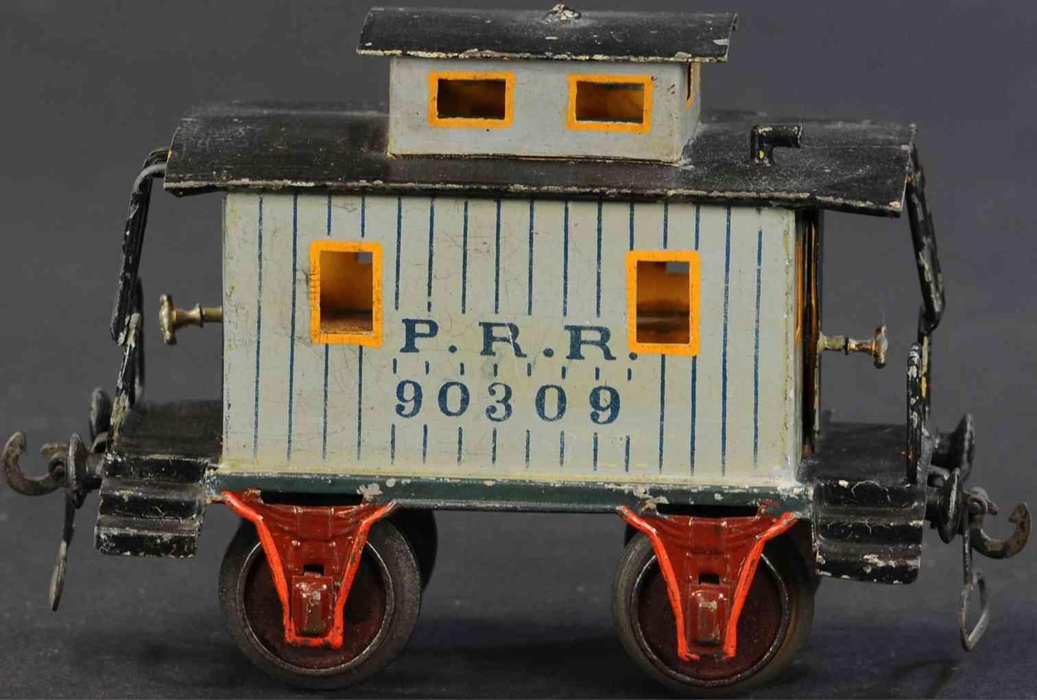 marklin 2955/1 railway toy caboose bluish-grey prr 90309 gauge 1