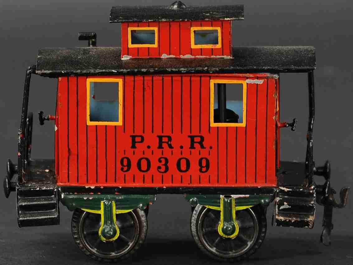 maerklin 2955/II spielzeug eisenbahn caboose rot schwarz prr 90309 spur 2