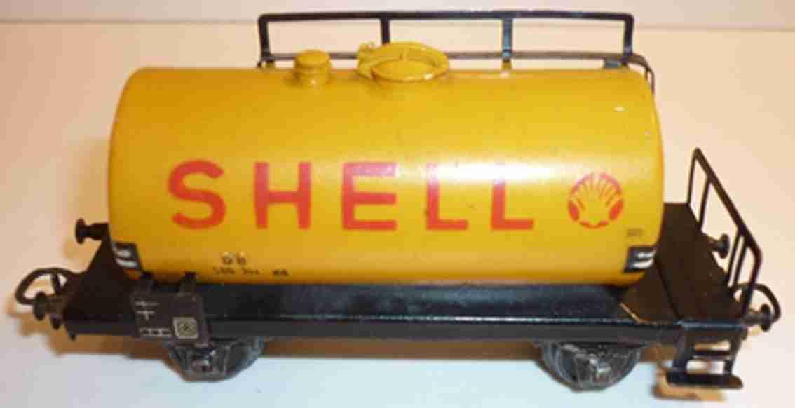 maerklin 304 s.1 spielzeug eisenbahn mineraloel-kesselwagen shell gelb spur h0