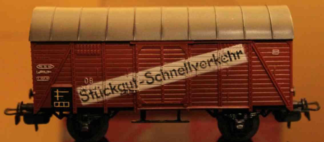 maerklin 306/2-1 4507-1 spielzeug eisenbahn gedeckter gueterwagen spur h0