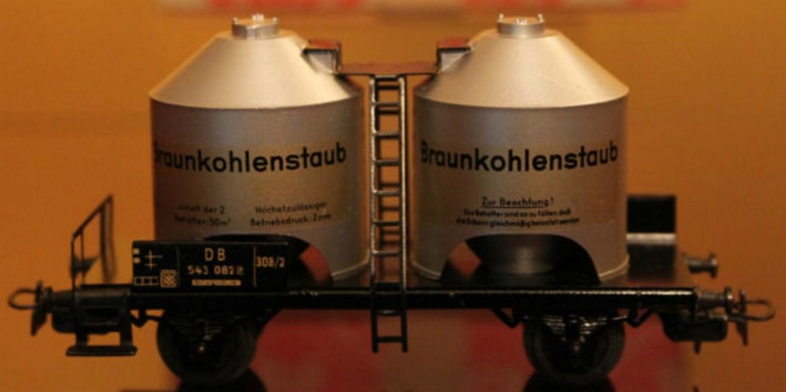 maerklin 308/2-1 4511-1 spielzeug eisenbahn silowagen braunkohlestaubwagen spur h0