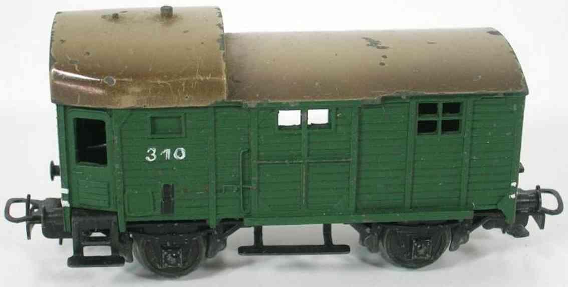 maerklin 310-6 spielzeug eisenbahn gepaeckwagen spur h0