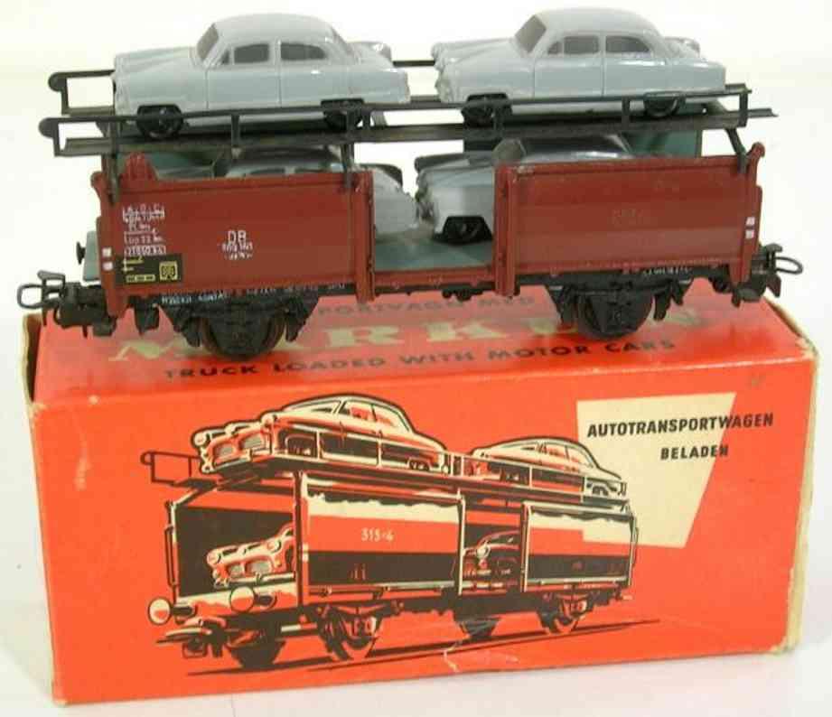 maerklin 315/4 g-2 spielzeug autotransportwagen taunus 12 m spur h0