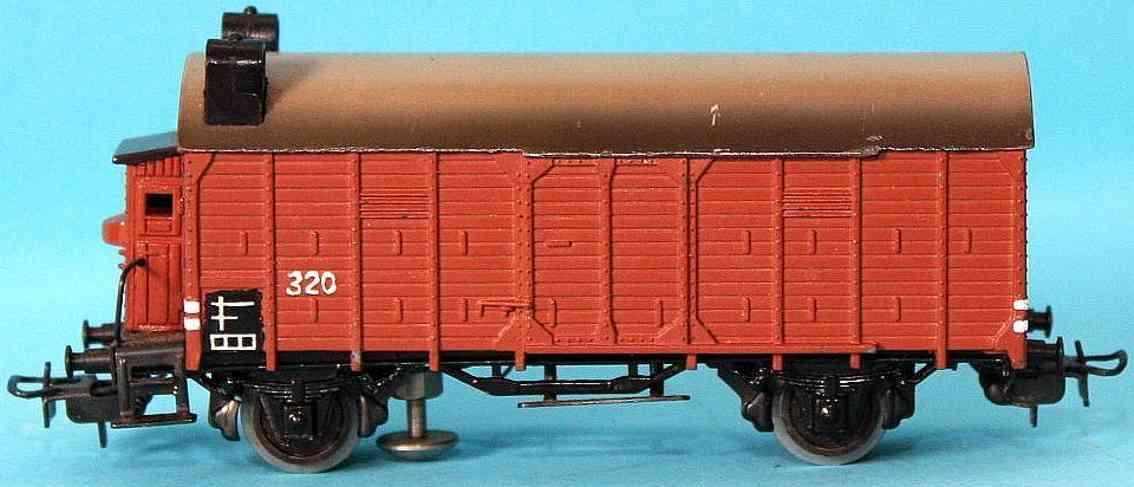 maerklin 320 S-2 spielzeug eisenbahn gedeckter gueterwagen spur h0