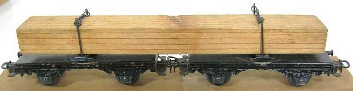 maerklin 361 g spielzeug eisenbahn gueterwagen zwei drehschemelwagen spur h0