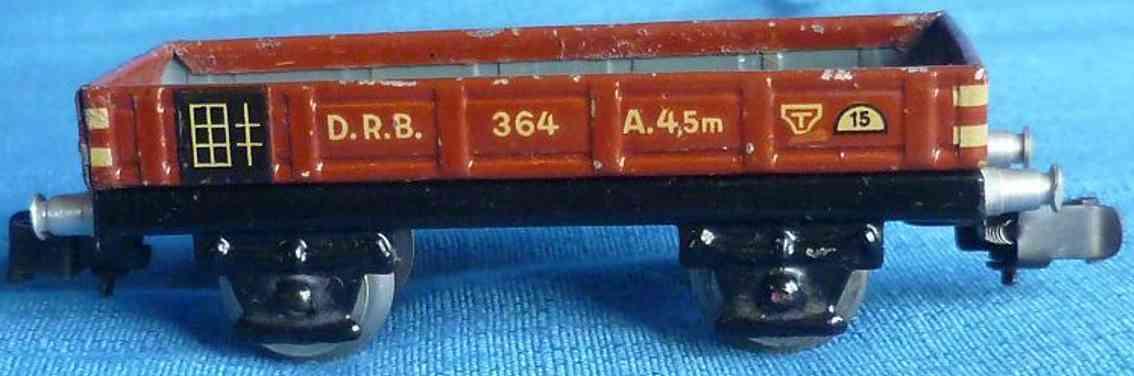 maerklin 364-1 spielzeug eisenbahn niederbordwagen spur h0