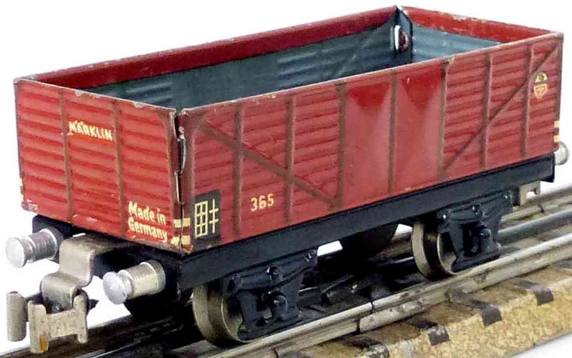 marklin maerklin 365-2 railway toy gondola car brown gauge h0