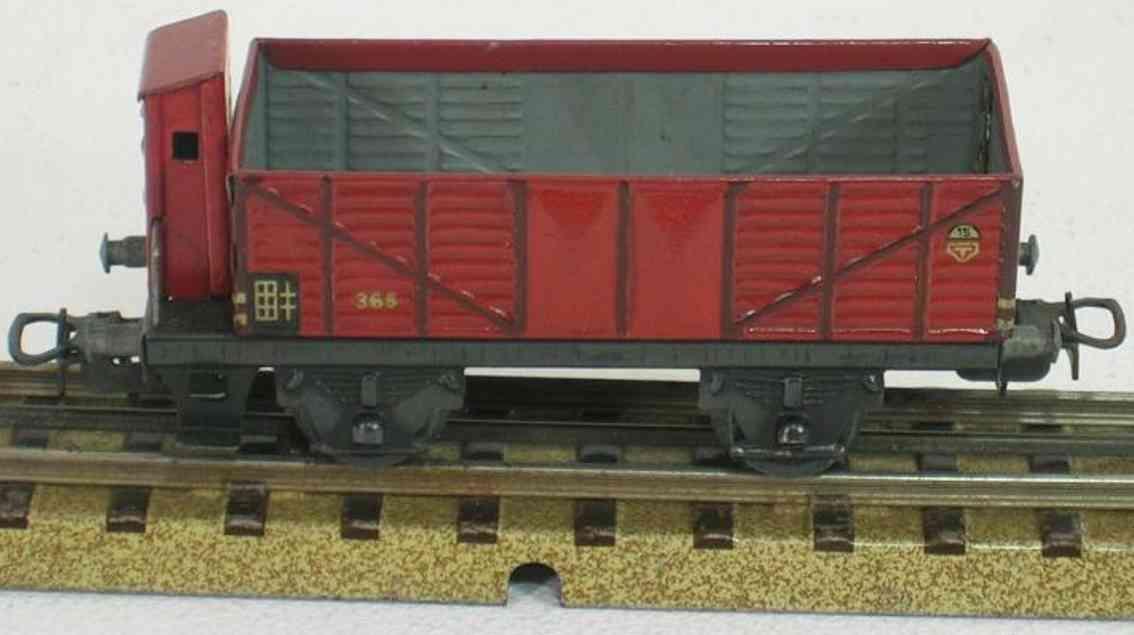 maerklin 365-4 spielzeug eisenbahn offener gueterwagen spur h0