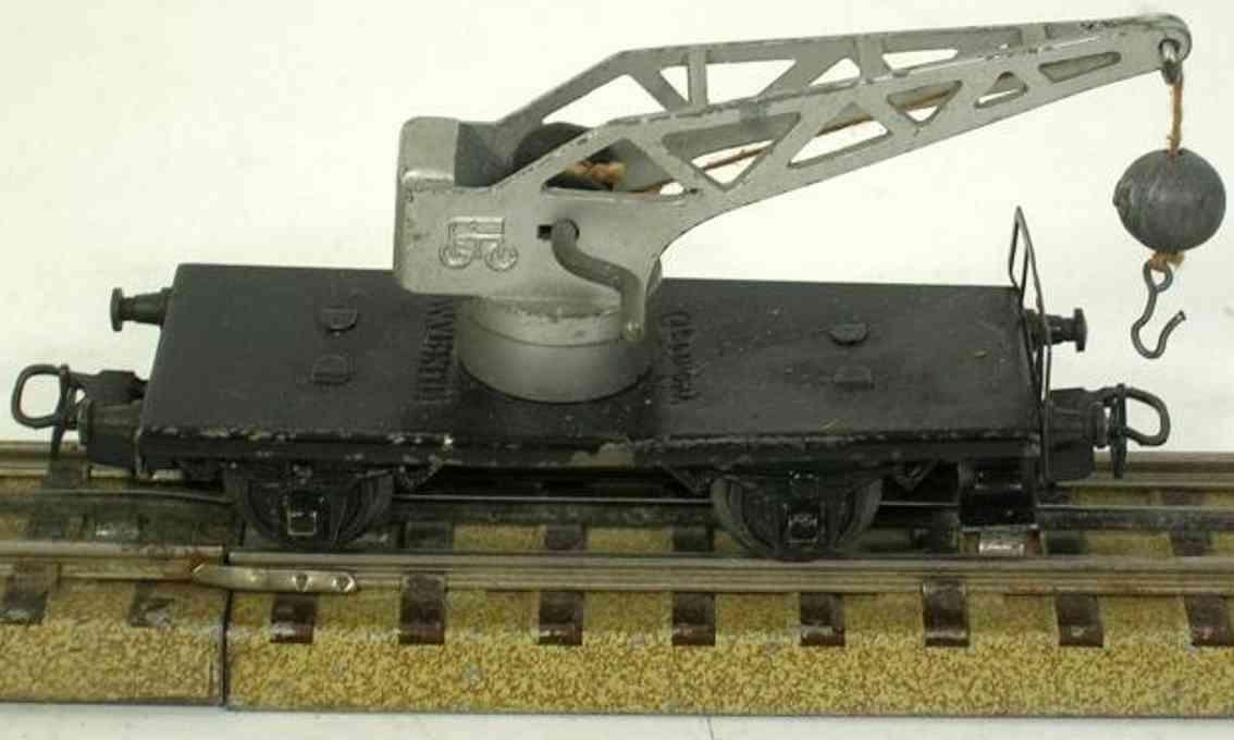 maerklin 366-9 spielzeug kranwagen aluminium spur h0